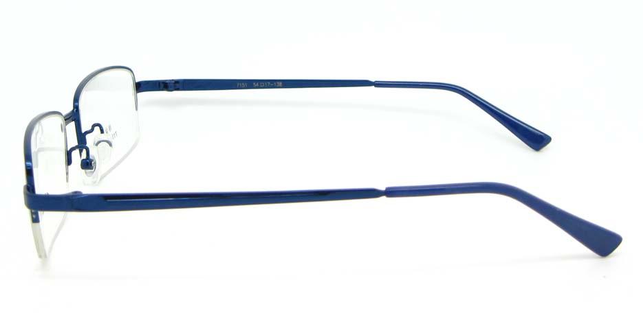 blue metal Rectangular glasses frame  WKY-ASR7151-L