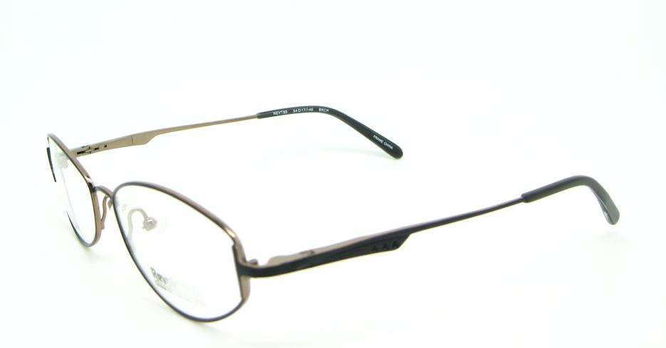 Titanium  oval glasses frame HL-Revt89-BKCP