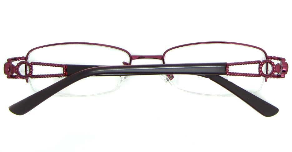red blend rectangular glasses frame JNY-SSYZ2146-ZHS