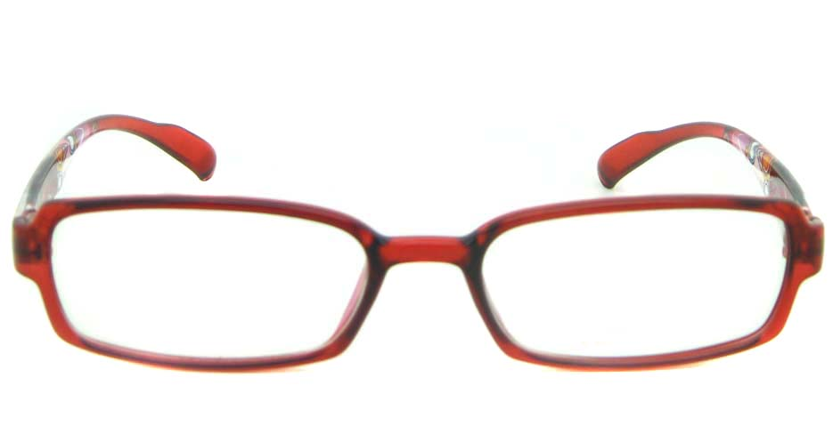 red rectangular tr90 glasses frame YL-KLD8007-C5