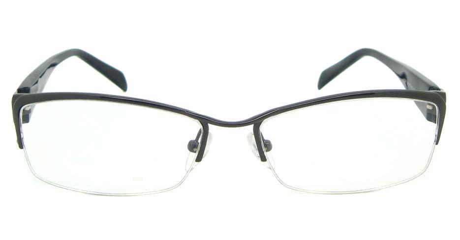 blend black Rectangular glasses half frame YL-WORD1341-C3