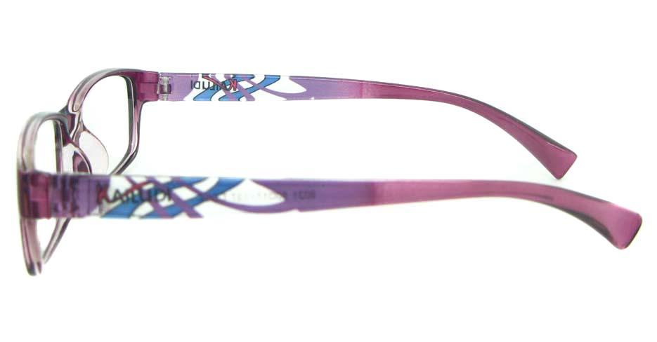 Pink TR90 plastic Rectangular glasses frame  YL-KDL8031-C4