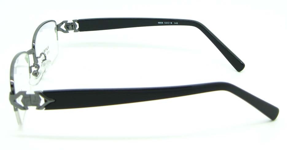 black with grey blend Rectangular glasses frame JNY-FKL9806-Q
