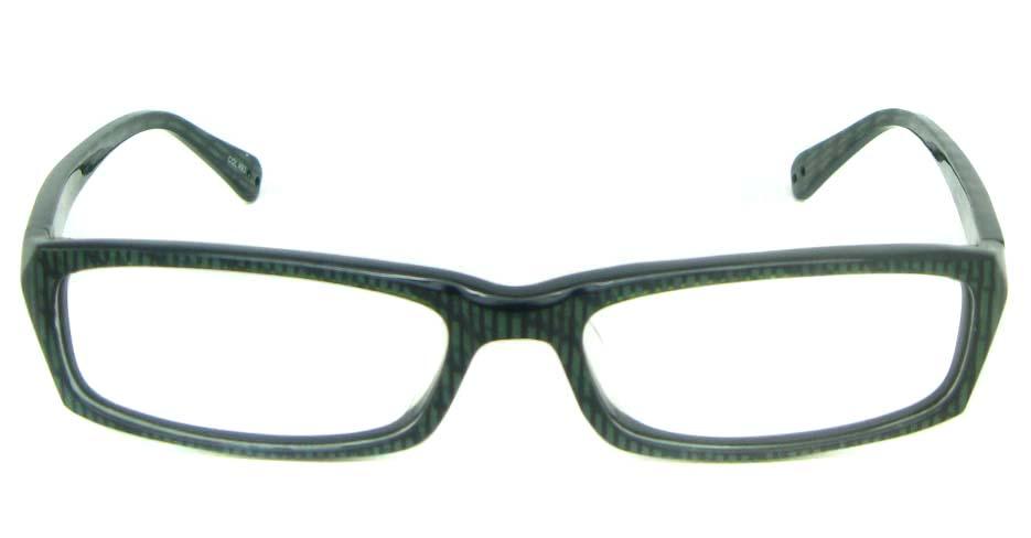 black plastic Rectangularglasses frame YL-JB8290-C493