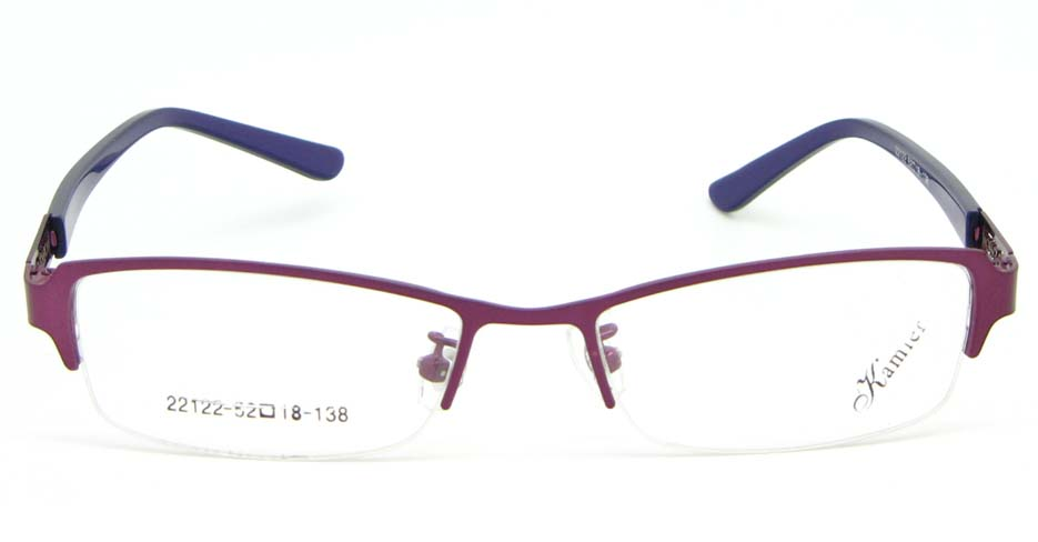 Red with purple blend Rectangular glasses frame WKY-KM22122-Z