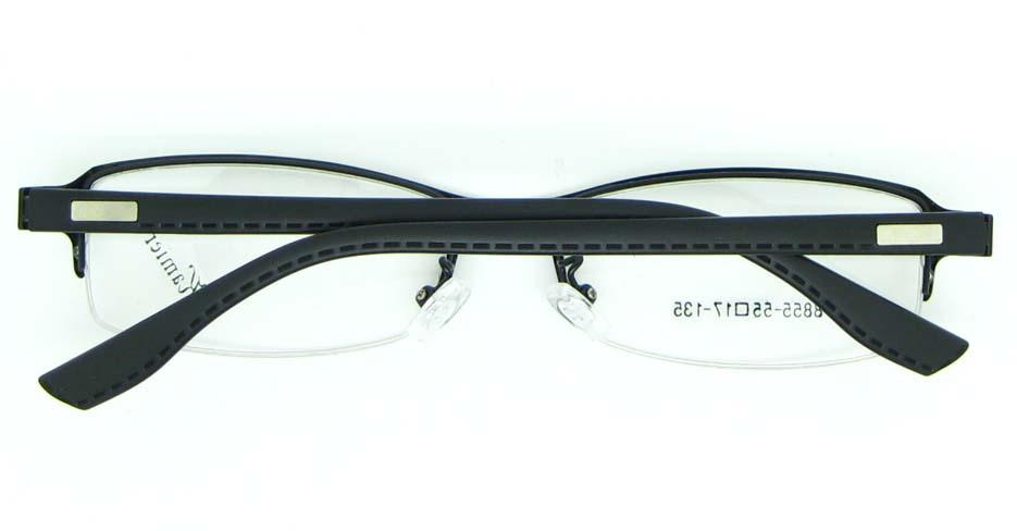 black rectangular blend glasses frame JNY-KM8855-HS
