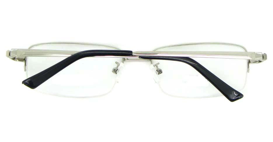 silver metal Rectangular glasses frame WKY-ASR6151-Y