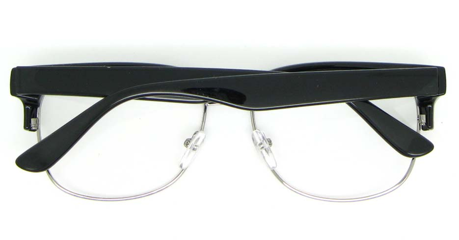 black  retro blend Oval glasses frame WLH-OF1831-C4