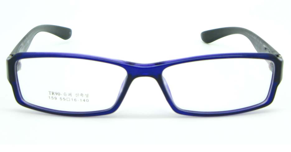 black with blue tr90 Rectangular glasses frame JNY-MJN159-C3