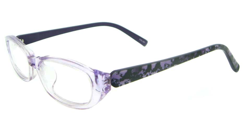 purple with black round plastic glasses frame YL-JB8350-C681