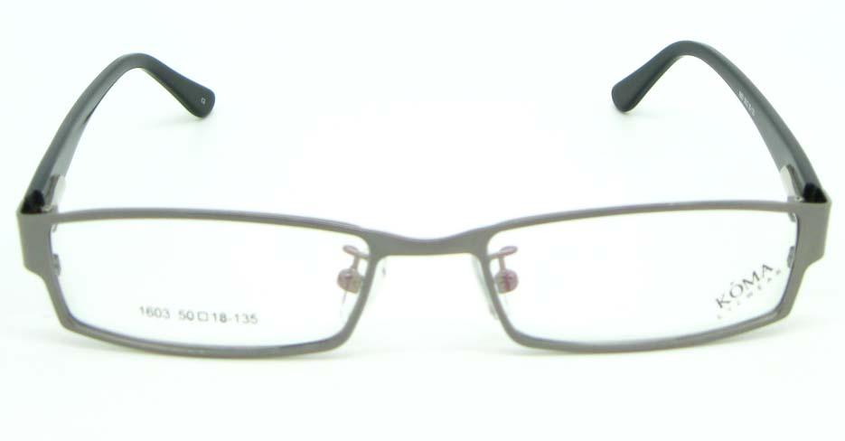 black with grey blend Rectangular glasses frame JNY-KM1603-C2