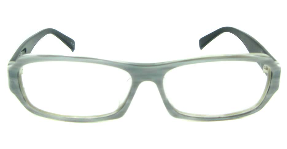Grey plastic rectangle glasses frame YL-RB976-C548