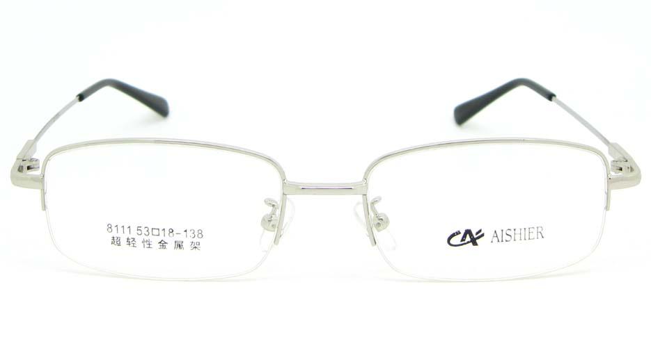 Silver metal Rectangular  glasses frame WKY-ASR8111-Y