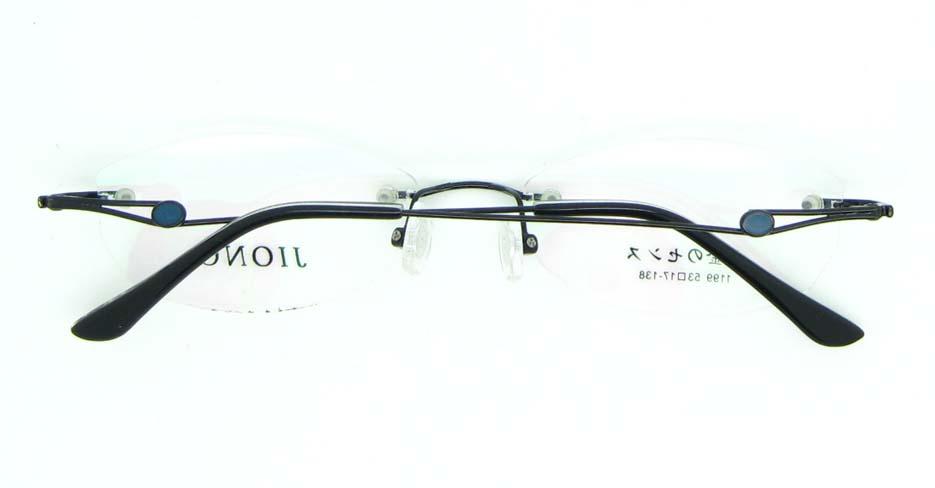 Rimless Glasses black cat eye metal glasses frame  JNY-JIONG1199-HS