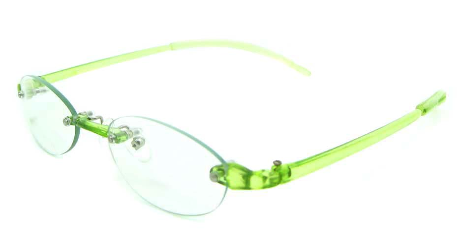 Rim Glasses  green oval plastic JNY-GD3807-LS