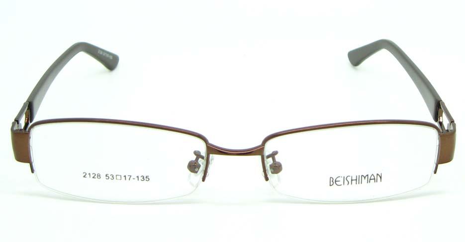 black with brown blend Rectangular glasses frame JNY-BSM2118-Q