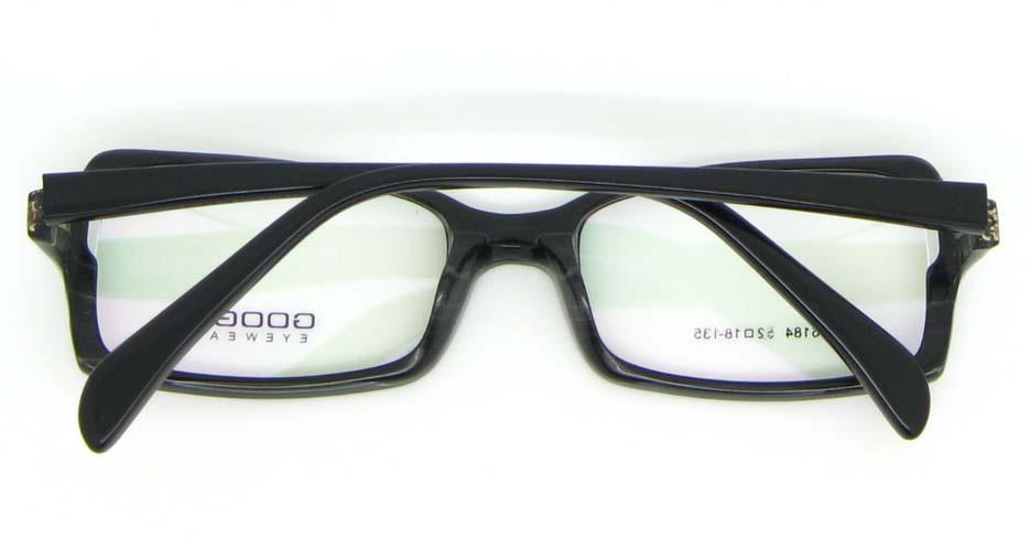 black oval Acetate glasses frame WKY-BL6184-C76