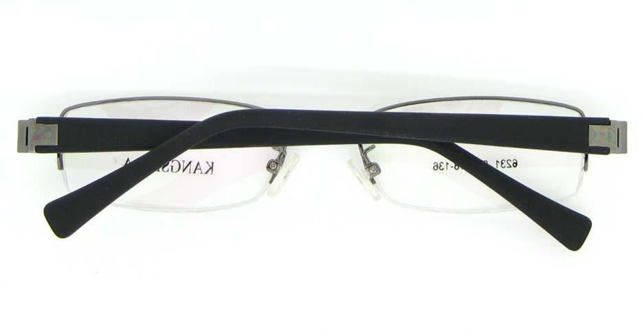 Black with gun blend rectangular glasses frame WKY-KSD6231-Q
