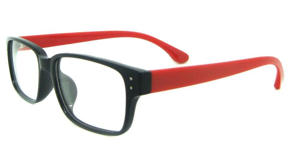 black with red Rectangular tr90 glasses frame YL-KDL8036-C5