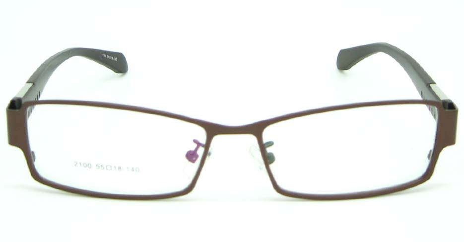 black with brown metal Rectangular glasses frame JNY-QSYR2100-ZS