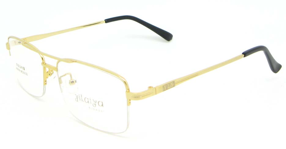 gold Rectangular  metal glasses frame WKY-HM3156-J
