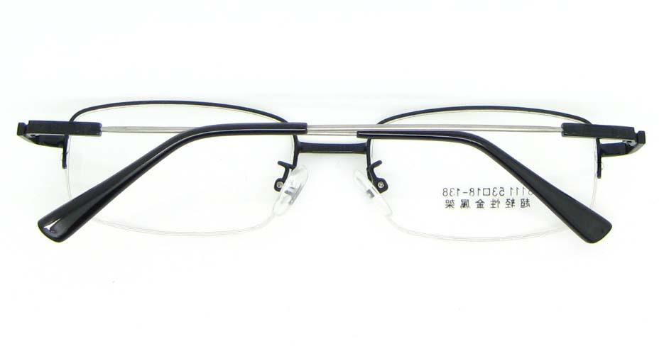 Black metal Rectangular  glasses frame WKY-ASR8111-HS