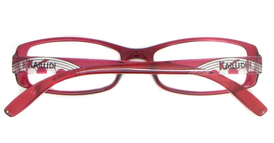 red Acetate Rectangular glasses frame YL-KLD8017-C3
