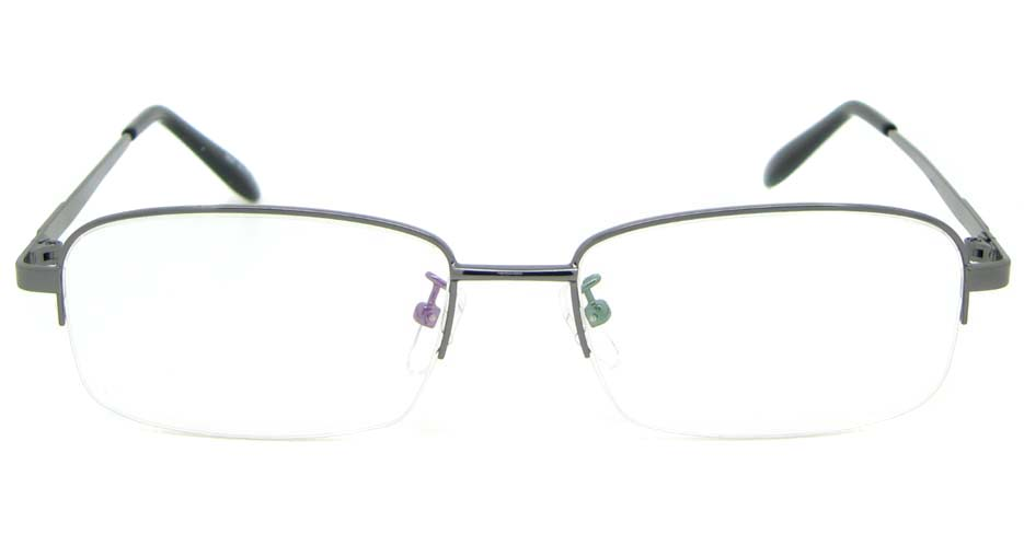grey metal rectangular glasses frame  WKY-DNI6027-Q