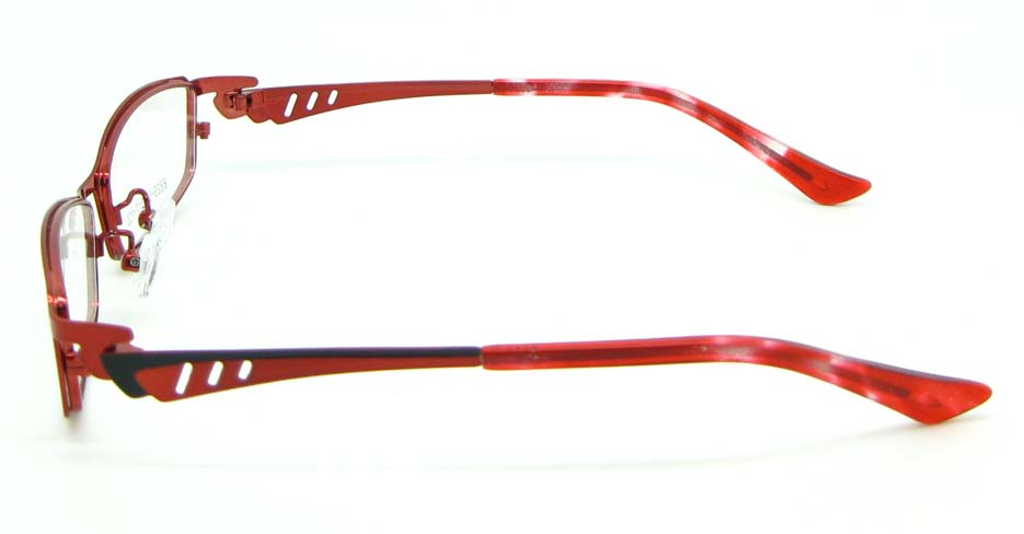 red with black metal oval glasses frame  JNY-KM8825-H