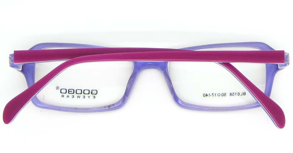 blue with wine Acetate Rectangular glasses frame WKY-BL6158-C84