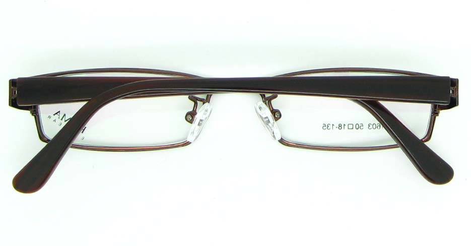 brown with tea blend Rectangular glasses frame JNY-KM1603-C10