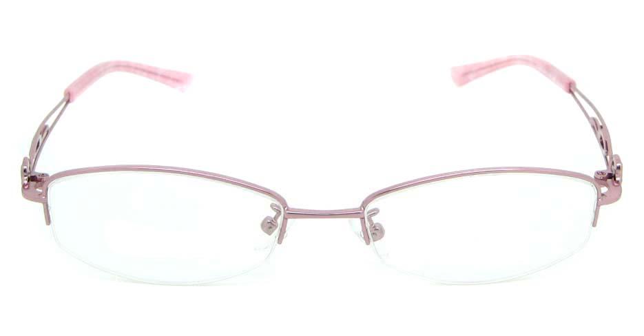 Pink oval metal glasses frame JNY-SSYZ2149-F