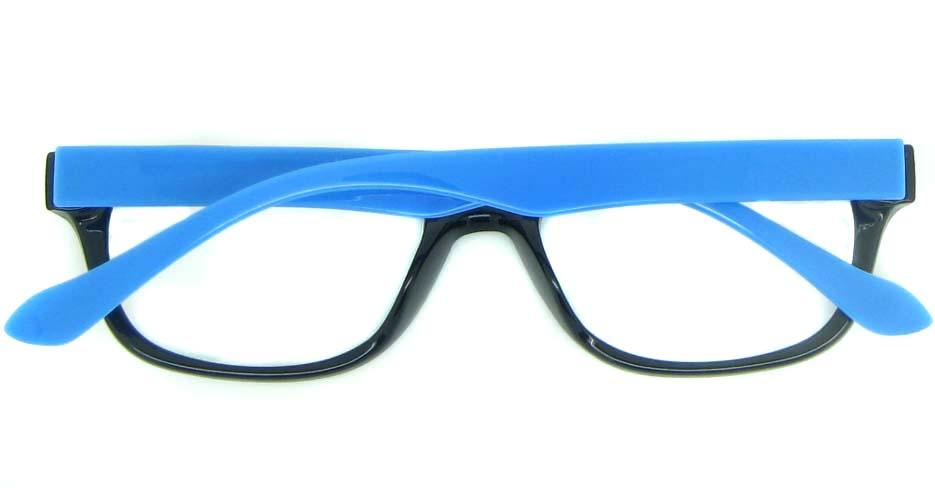 black with blue tr90 oval glasses frame YL-KDL8051-C4