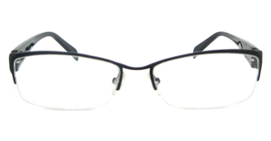 blend black Rectangular glasses half frame YL-WORD1341-C4