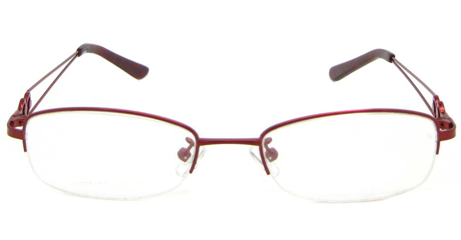 red oval metal glasses frame WKY-KM5528-H