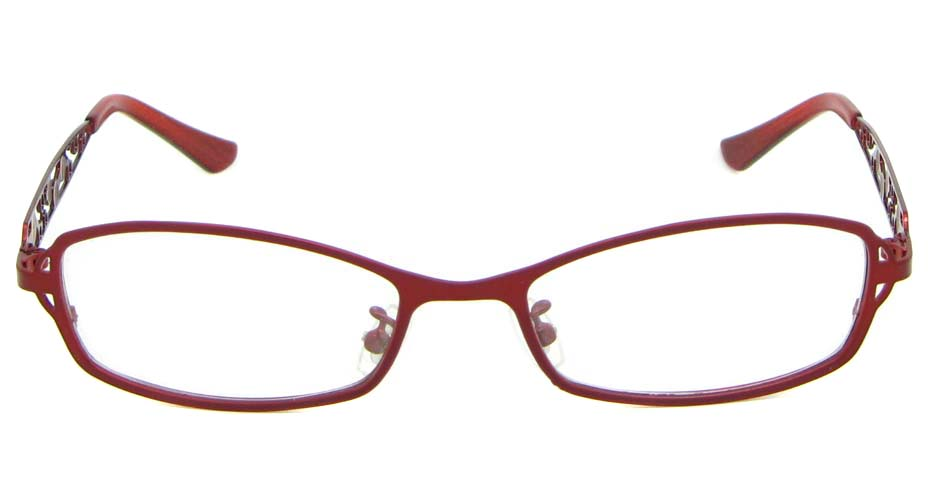 red metal oval glasses frame WKY-KM8881-H