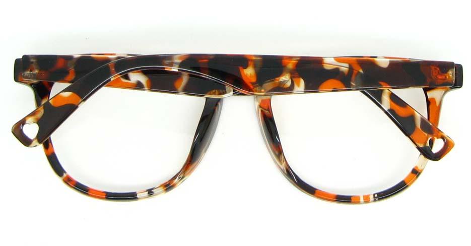 brown blend oval glasses frame WLH-8332-C3