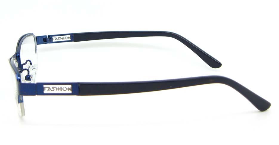 black with blue blend Rectangular glasses frame WKY-KM22122-HLS