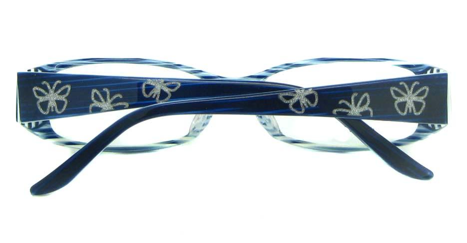 black with blue Rectangular  Plastic glasses frame YL-JB8288-C489