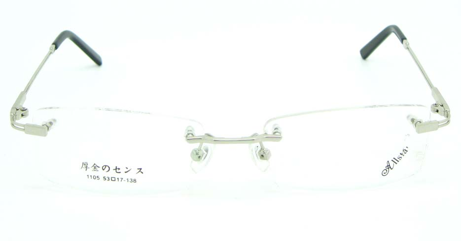 Rimless silver  rectangle metal glasses frame JNY-JIONG1105-Y