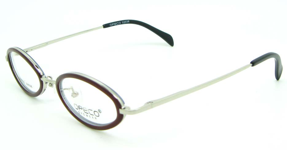 kid brown blend round glasses frame JNY-02036-c5
