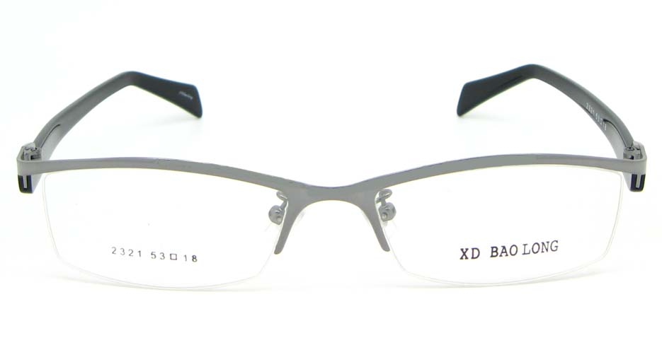 black with grey blend Rectangular glasses frame WKY-XDBL2321-Q