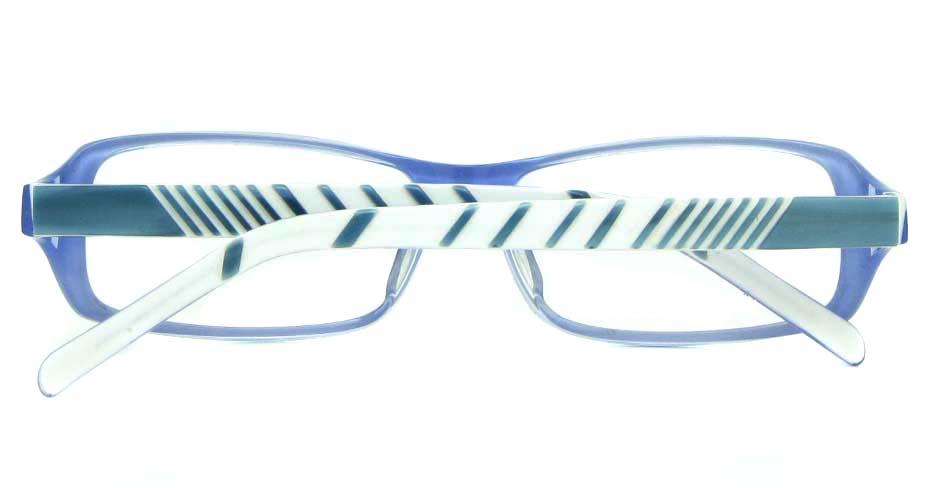 blue with white plastic rectangular glasses frame YL-JB8318-C544