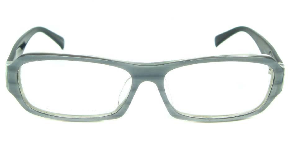black plastic rectangular glasses frame YL-RB8319-C548