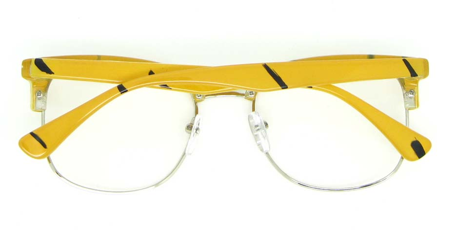 blend retro yellow glasses half frame WLH-QS010-C5