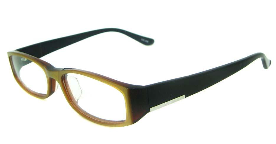 black with brown Acetate  rectangular glasses frame YL-JB8316-C539