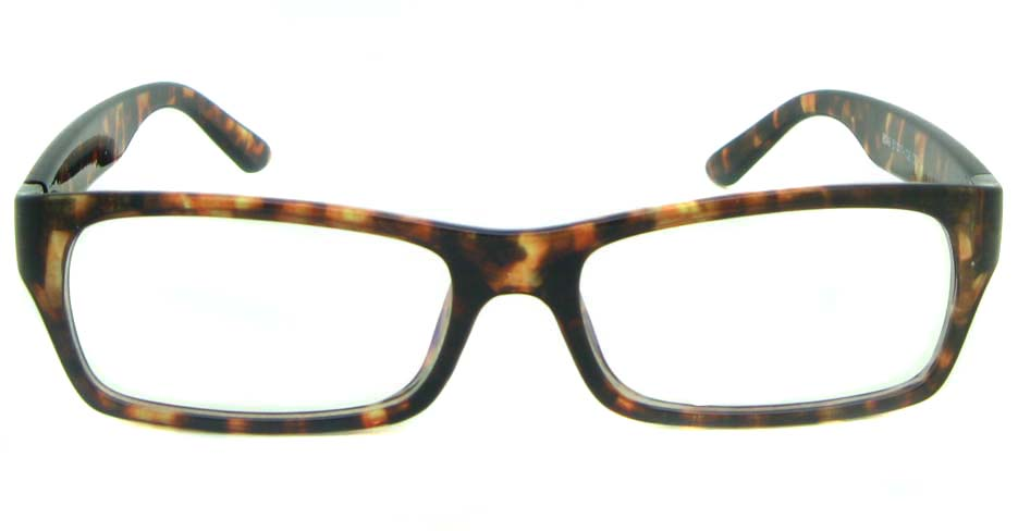 Tortoise Rectangular tr90 glasses frame YL-KDL8049-C3