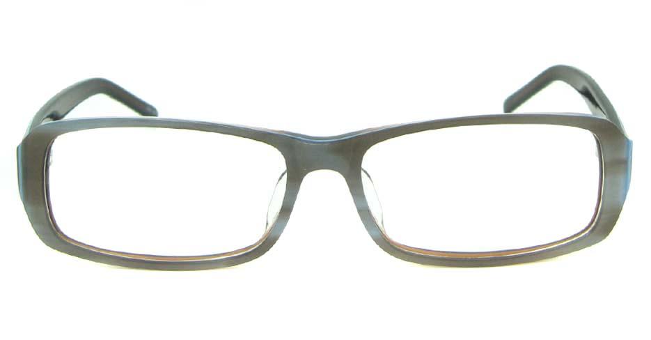 blue plastic rectangular glasses frame YL-JB8318-C543