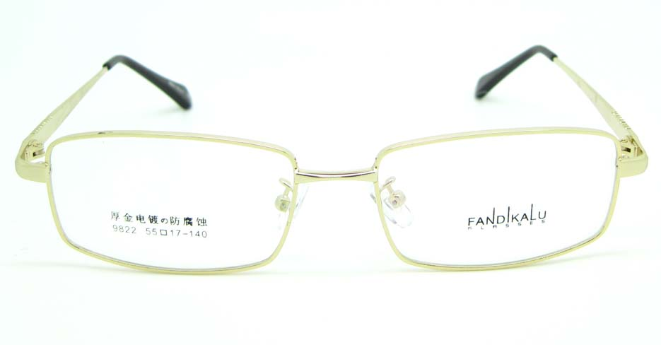 Gold metal Rectangular glasses frame JNY-FKL9822-J