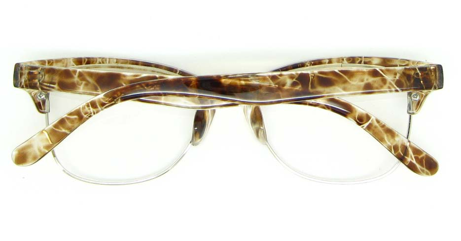 retro oval Tortoise blend glasses frame WLH-0026-C6